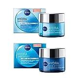 NIVEA Hydra Skin Effect Tages- + Nachtpflege Set, mit Wake-up Gel und Regenerierender Gel-Creme,...