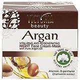 Victoria Beauty - Anti Aging Nachtcreme, Nachtmaske mit Arganöl aus Marokko, straffende...
