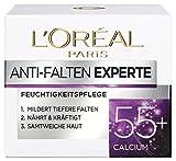 L'Oréal Paris Anti-Falten Experte Tagescreme 55+, Anti-Age Feuchtigkeitspflege mit Calcium, mildert...