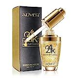 24 Karat Gold Essenz Kollagen Haut Gesicht Feuchtigkeitsspendende Hyaluronsäure Anti-Aging-Maske...